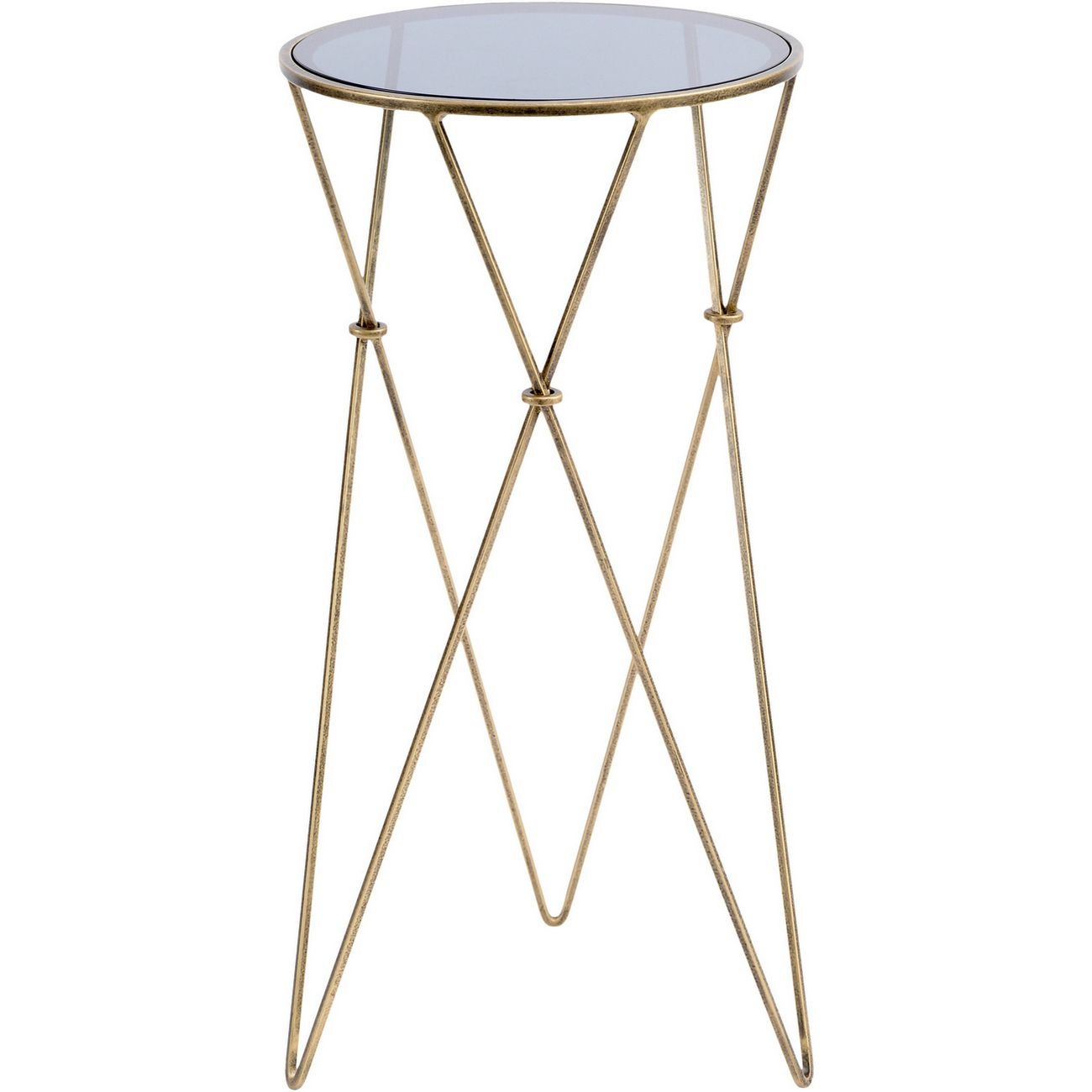 Sassari Antique Gold and Smoked Glass Side Table thumbnail