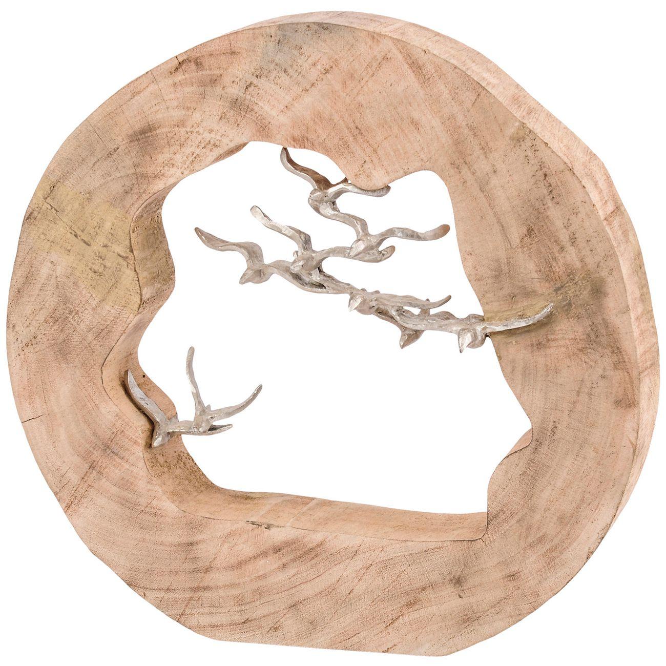 Flying Birds Wooden Log Sculpture thumbnail