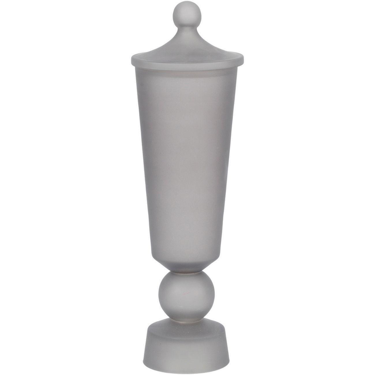 Oct Promo - Nova Small Lidded Grey Glass Jar thumbnail