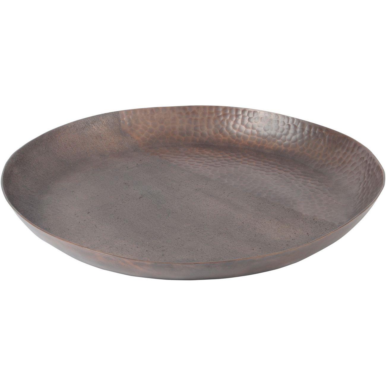 Fuse Dark Bronze Two-Toned Hammered Aluminium Round Platter thumbnail
