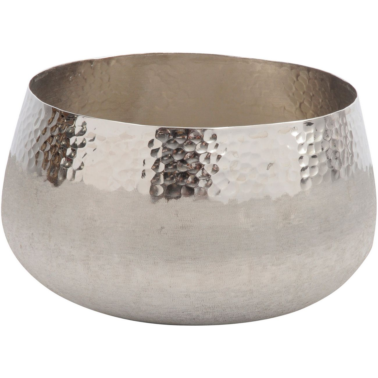 Fuse Hammered and Brushed Large Bowl in Silver Finish thumbnail