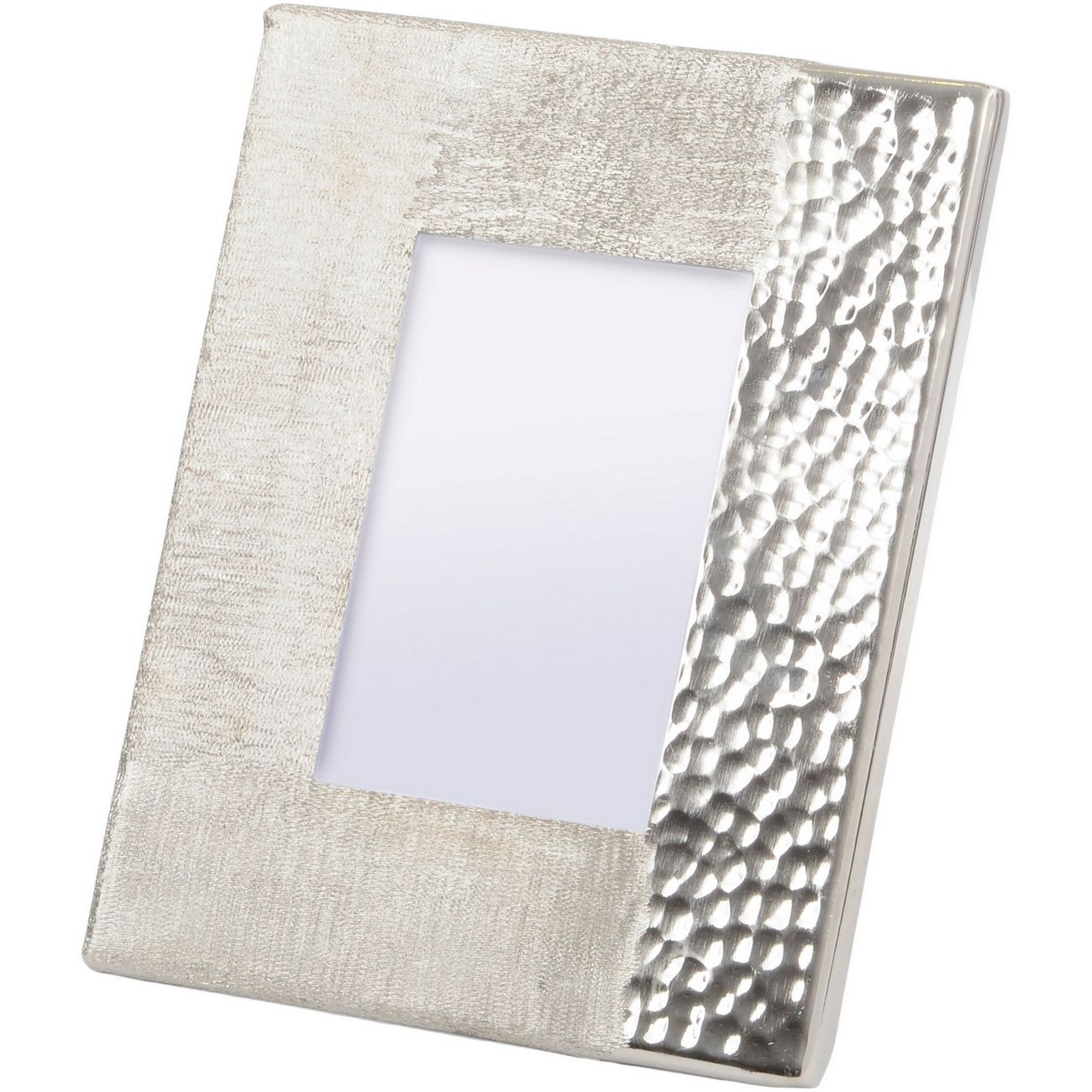 Fuse Hammered and Brushed 4X6 Inch Photo Frame in Silver Finish thumbnail