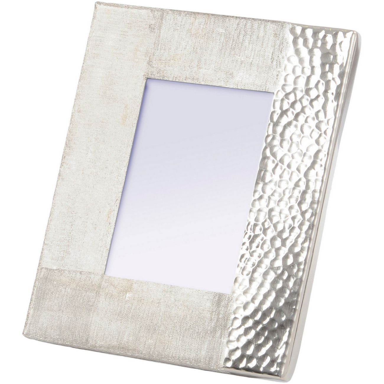 Fuse Hammered and Brushed 5X7 Inch Photo Frame in Silver Finish thumbnail