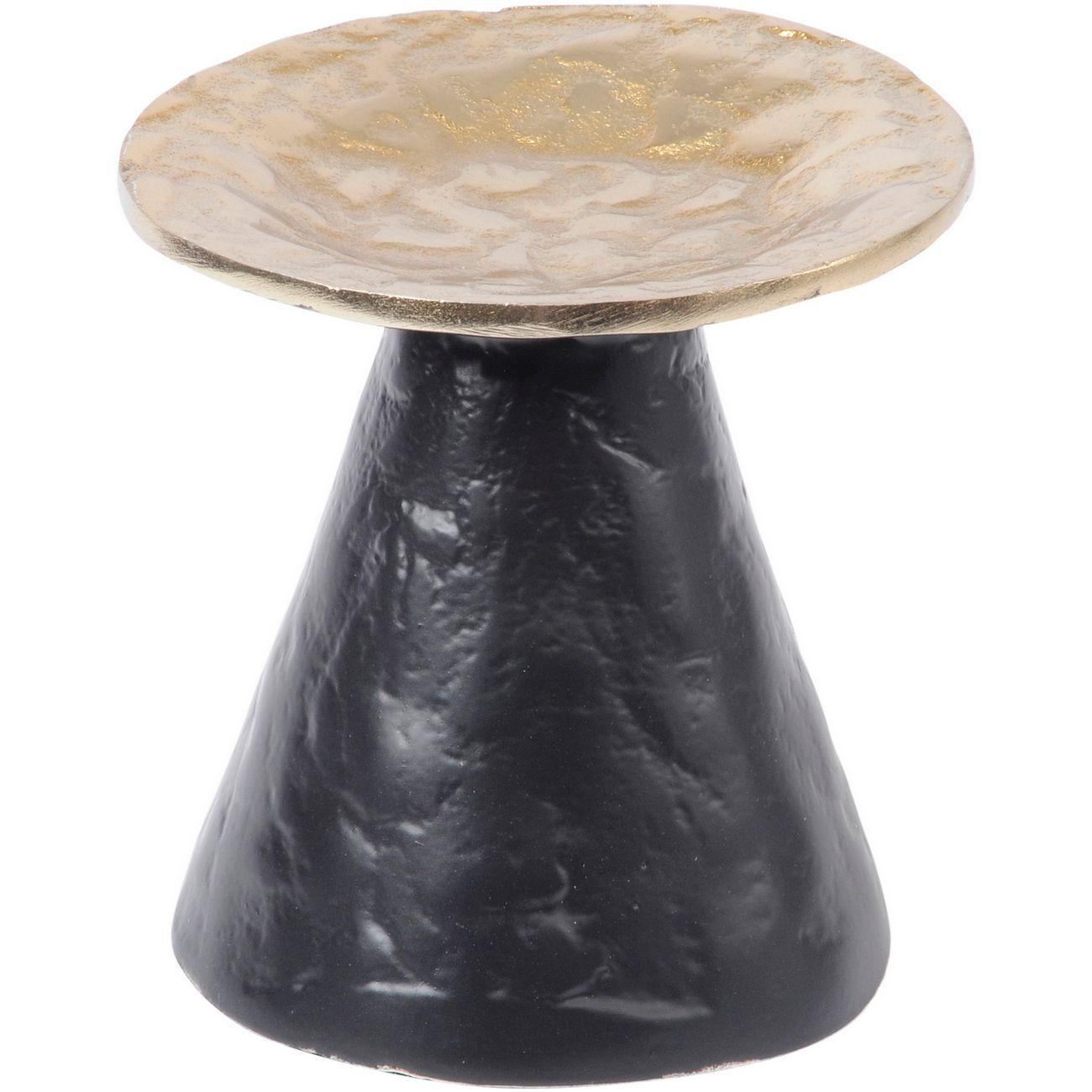 Adari Organic Gold and Black Small Pillar Candle Holder thumbnail