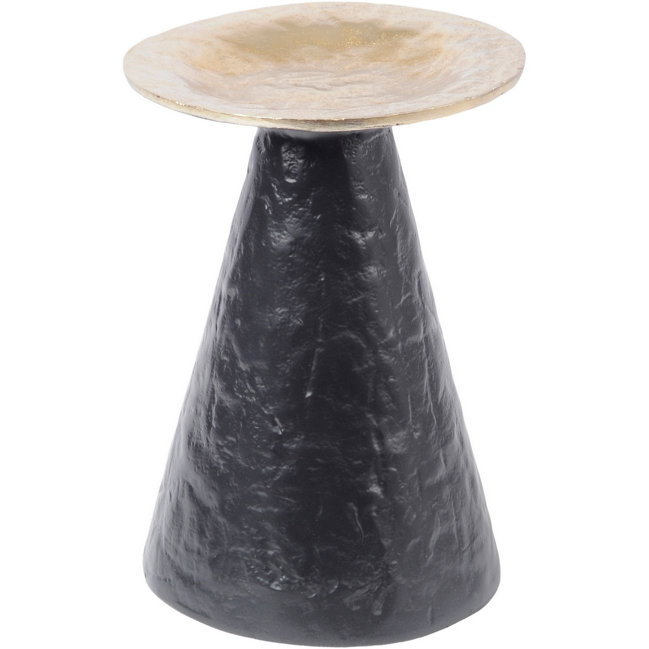 Adari Organic Gold and Black Large Pillar Candle Holder thumbnail