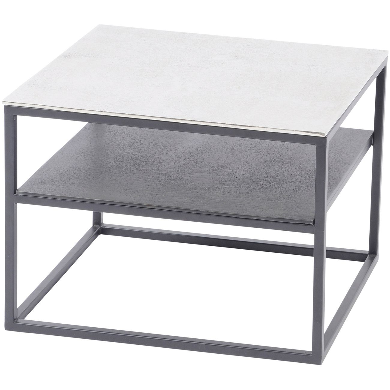 Elements Aluminium and Iron Side Table with Shelf thumbnail