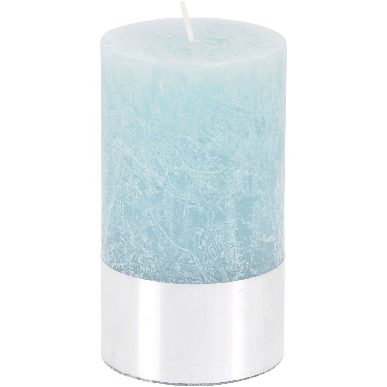 Blue Rustica Pillar Candle 7x12cm thumbnail