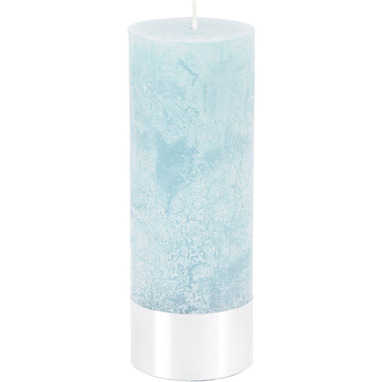 Blue Rustica Pillar Candle 7x19cm thumbnail