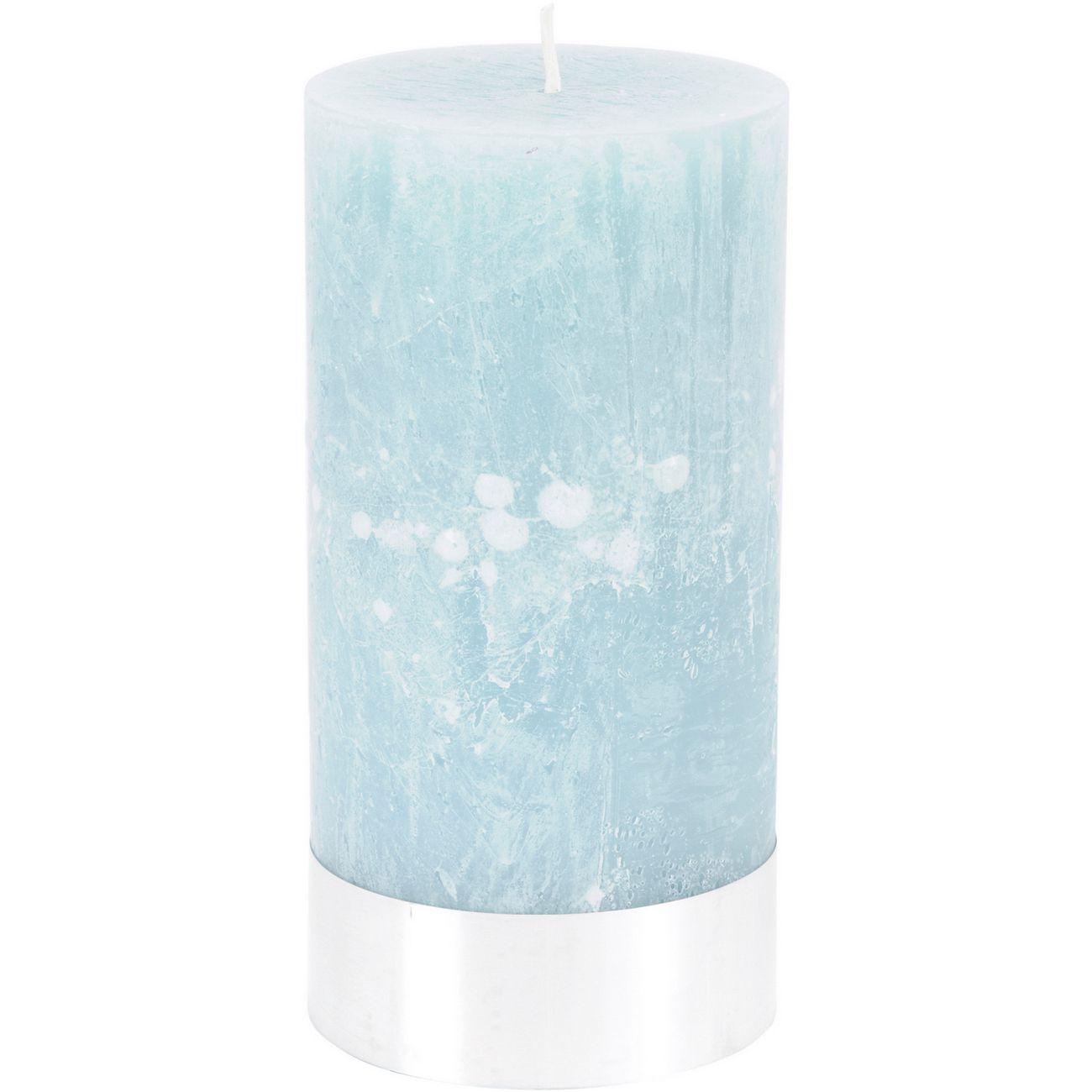 Blue Rustica Pillar Candle 10x20cm thumbnail