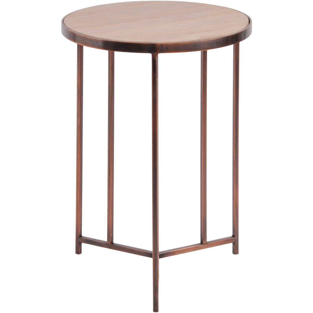 Alpina Sandstone and Metal Side Table thumbnail