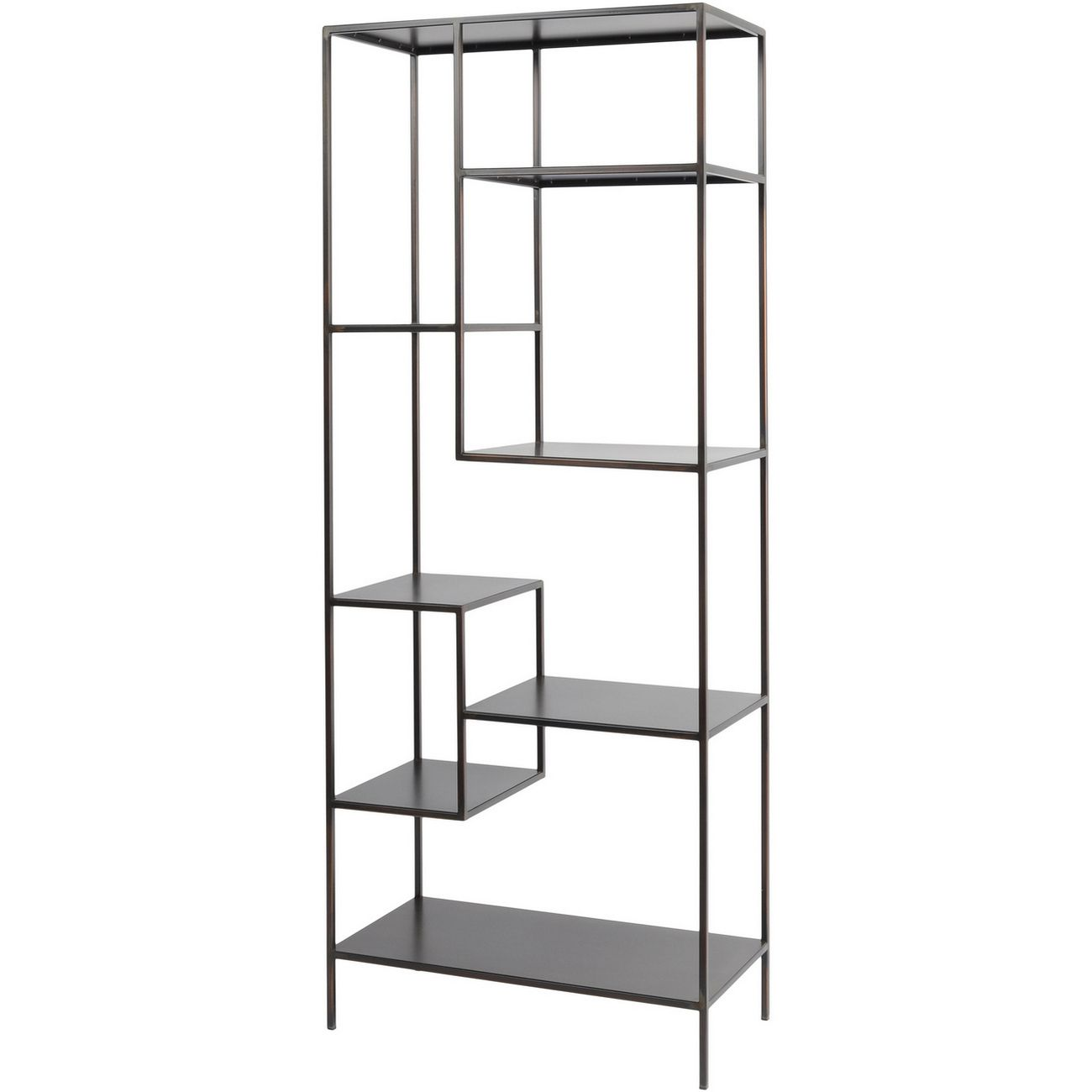 Fitzroy Bronze Metal Modular Shelving Unit thumbnail