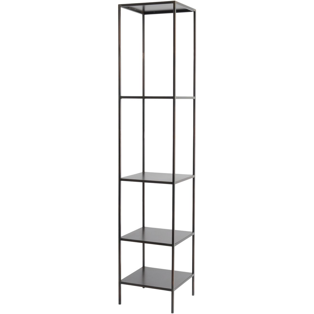 Fitzroy Bronze Narrow Modular Shelving Unit Left thumbnail