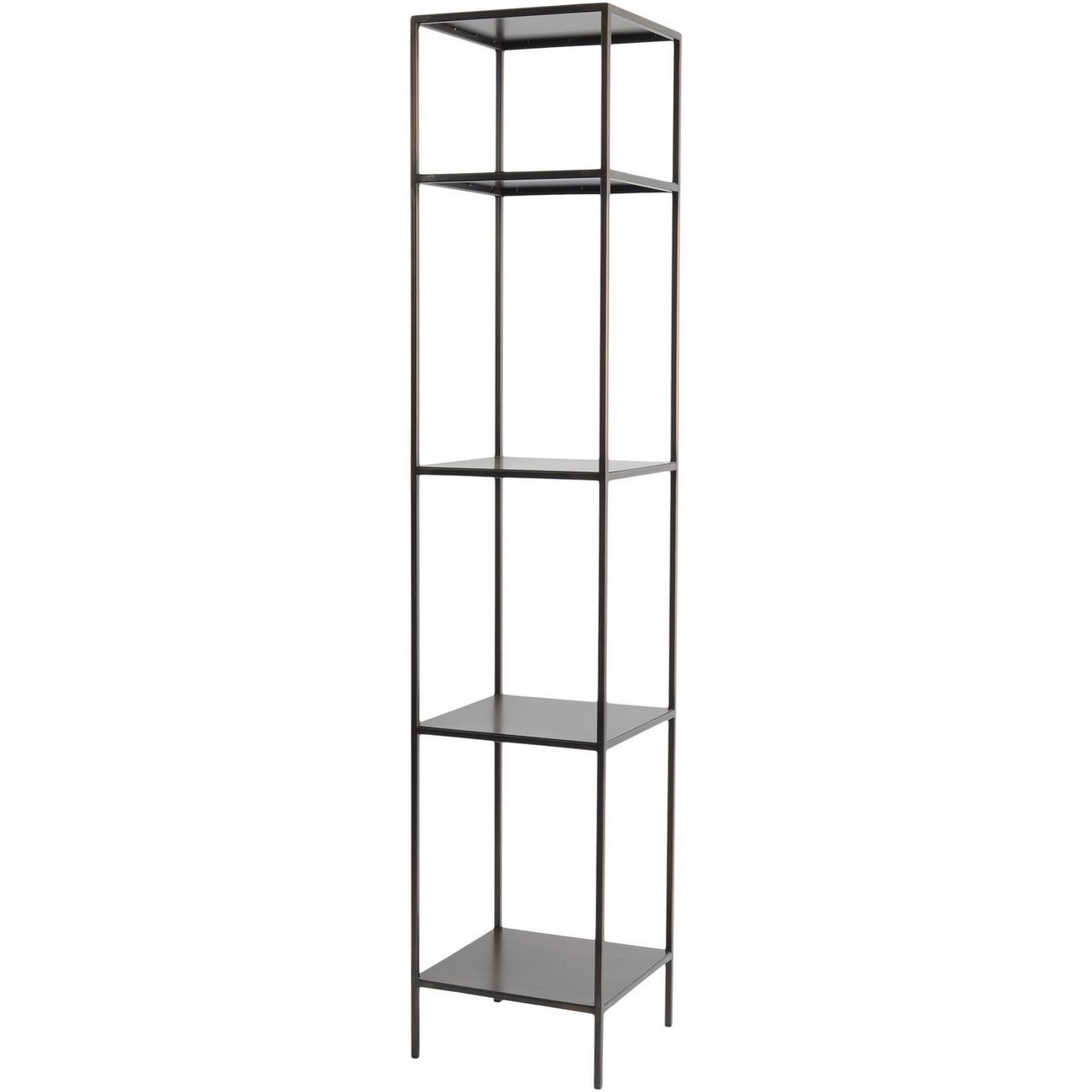 Fitzroy Bronze Narrow Modular Shelving Unit Right thumbnail