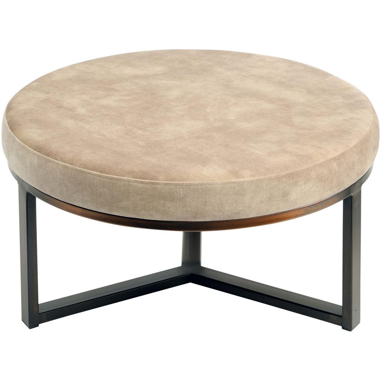 Fitzroy Taupe Round Stool Large thumbnail