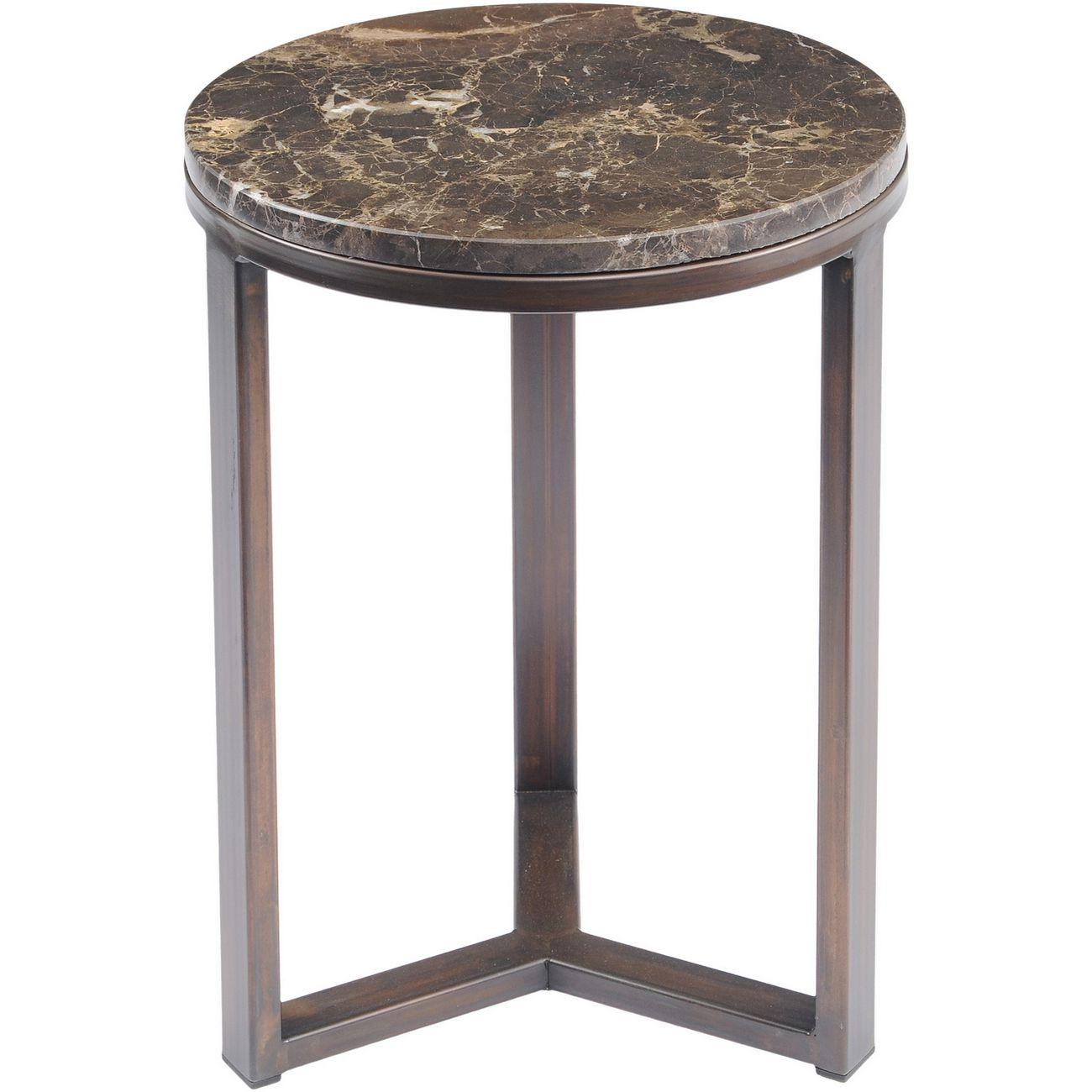 Fitzroy Emperador Marble Side Table thumbnail