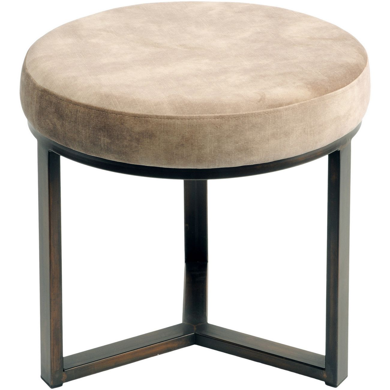 Fitzroy Taupe Round Stool Small thumbnail