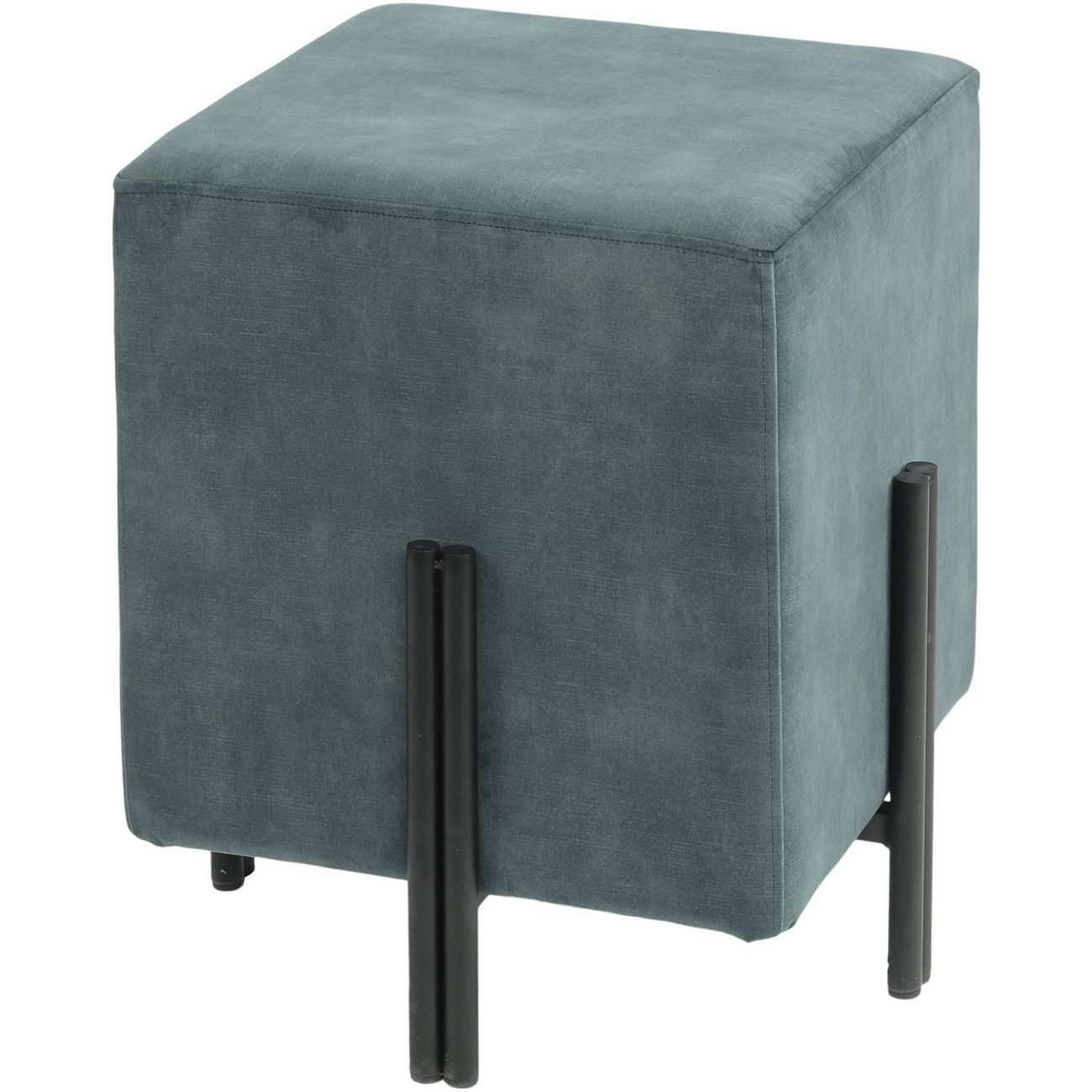 Chancery Marine Blue Square Stool thumbnail