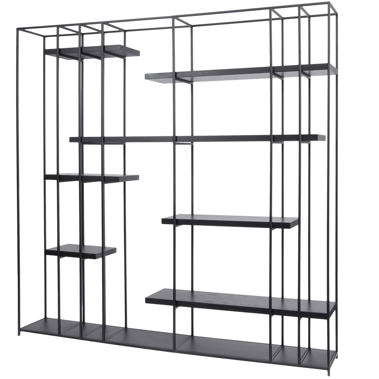 Chancery Black Metal And Black Ash Shelving Unit thumbnail