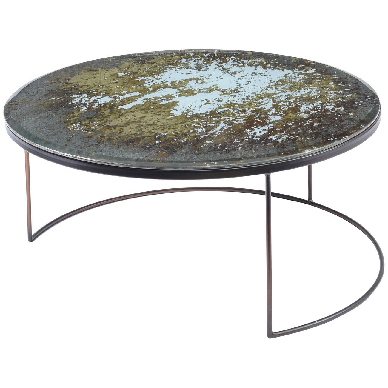 Fitzroy Antique Mirror Coffee Table Large thumbnail