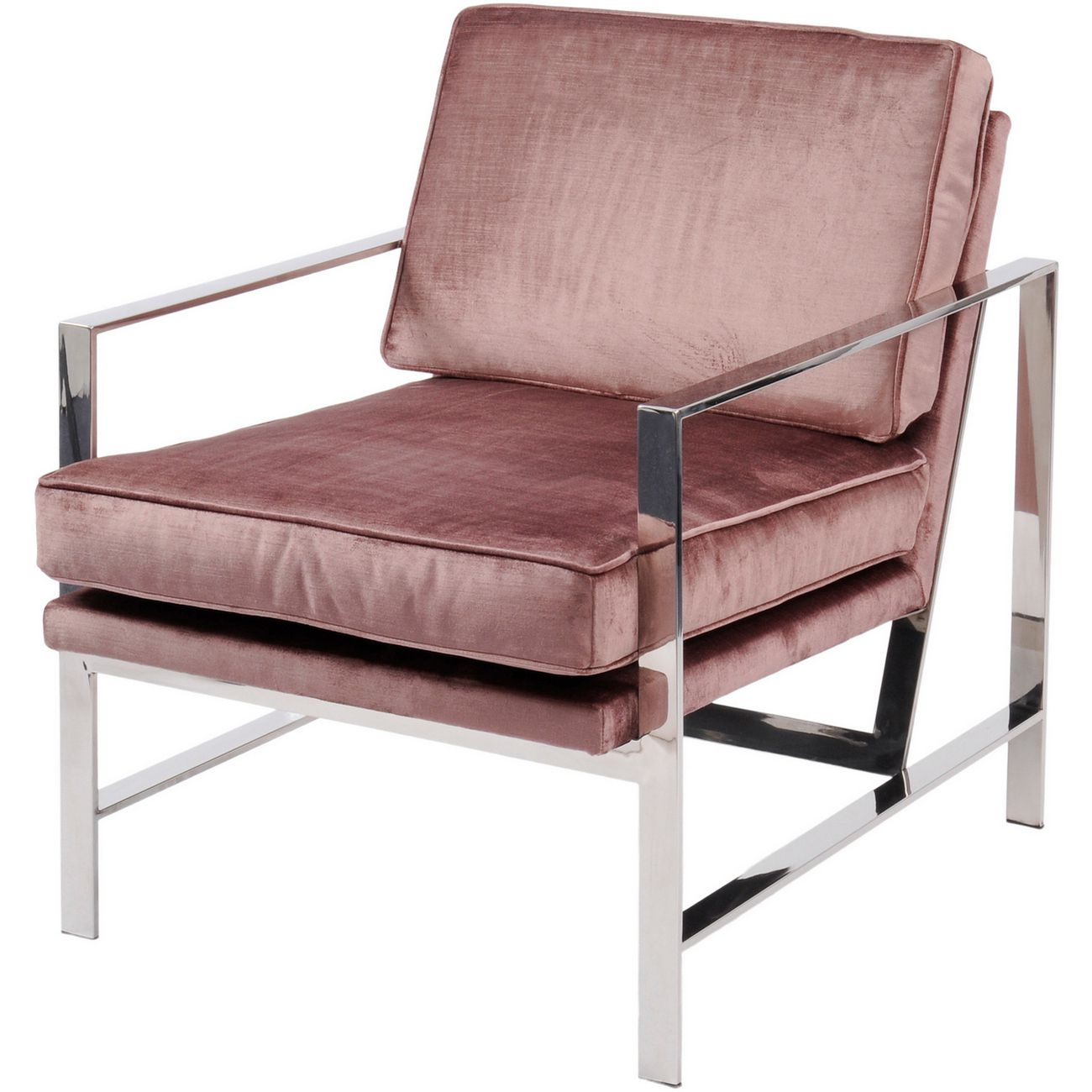 Caverly Club Chair with Chrome Frame thumbnail