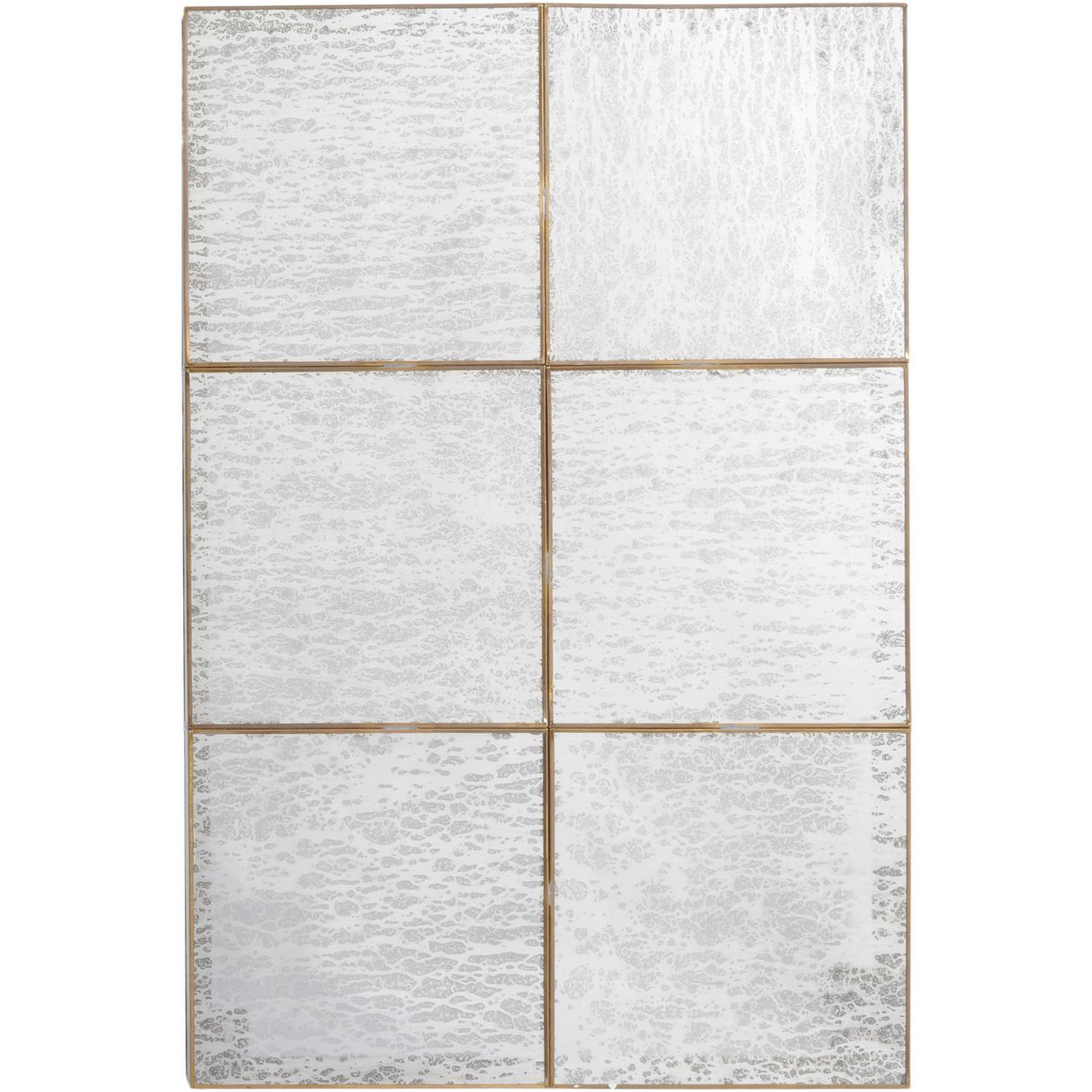 Aroura Silver Panelled Mirrored Wall Art thumbnail
