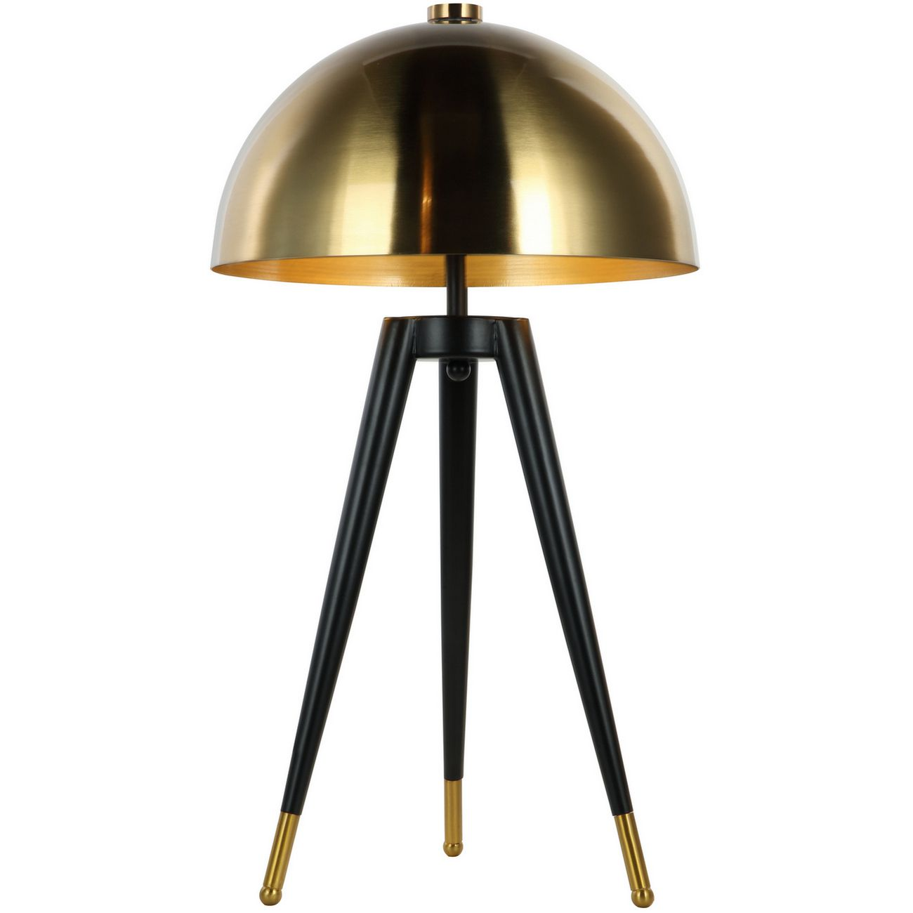 Corvus Tripod Table Lamp with Brass Shade E27 40W 1 thumbnail