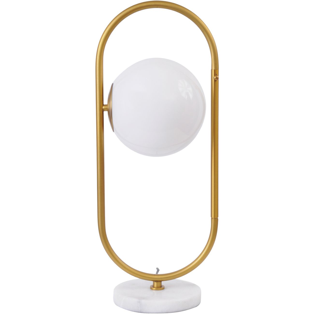 Orbital Milk Glass, Brass and Marble Table Lamp thumbnail