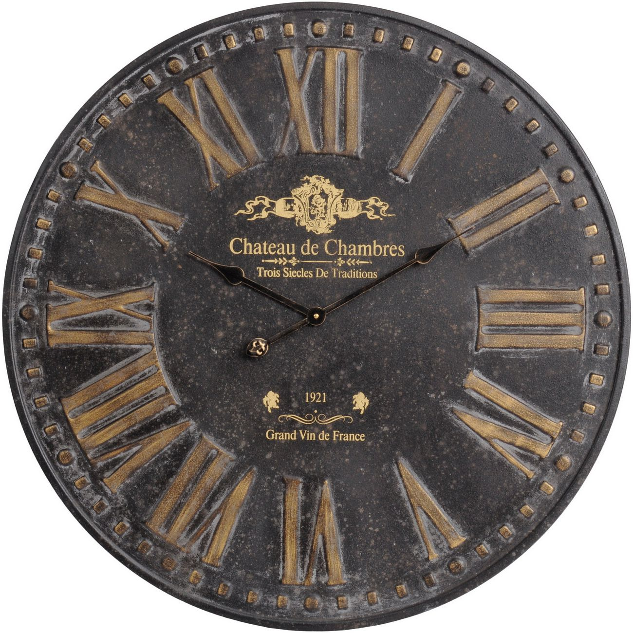 Antique Iron Chateau Wall Clock thumbnail