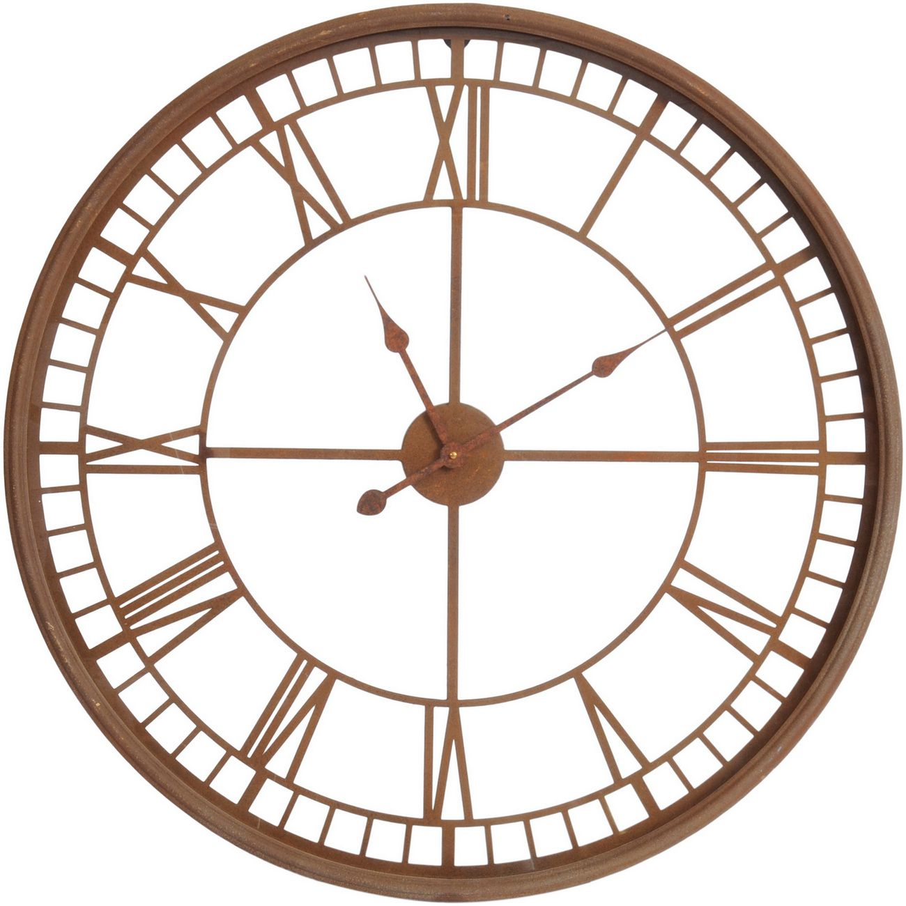 Antique Rust Skeleton Wall Clock thumbnail