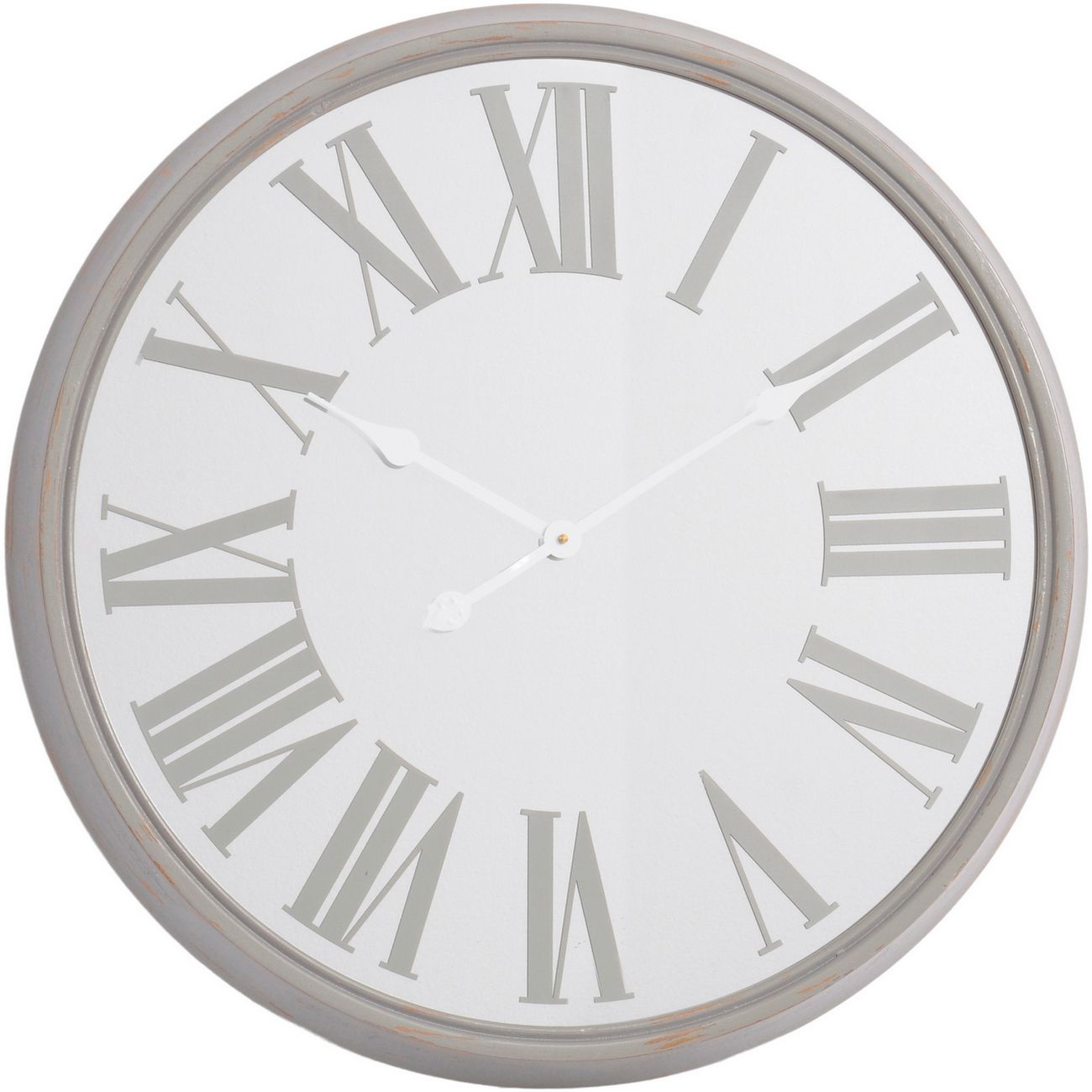 Antique Grey Mirrored Wall Clock thumbnail