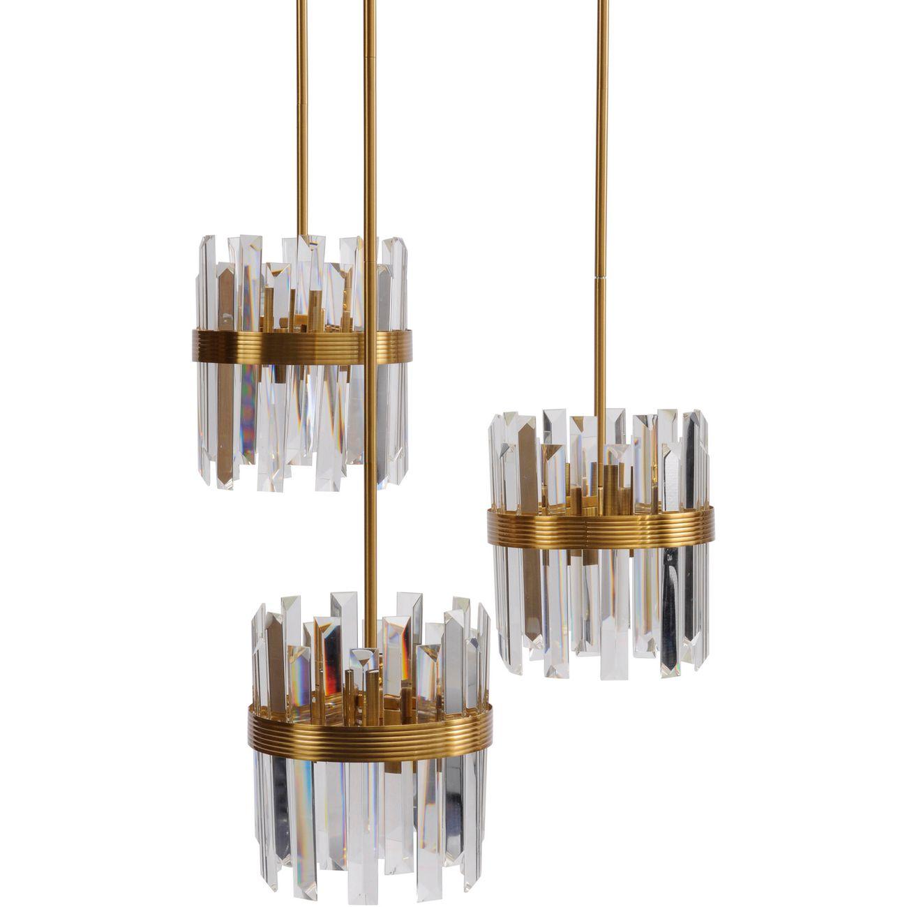 Set Of Three Crystal Pendant Lights E14 40W 12 thumbnail