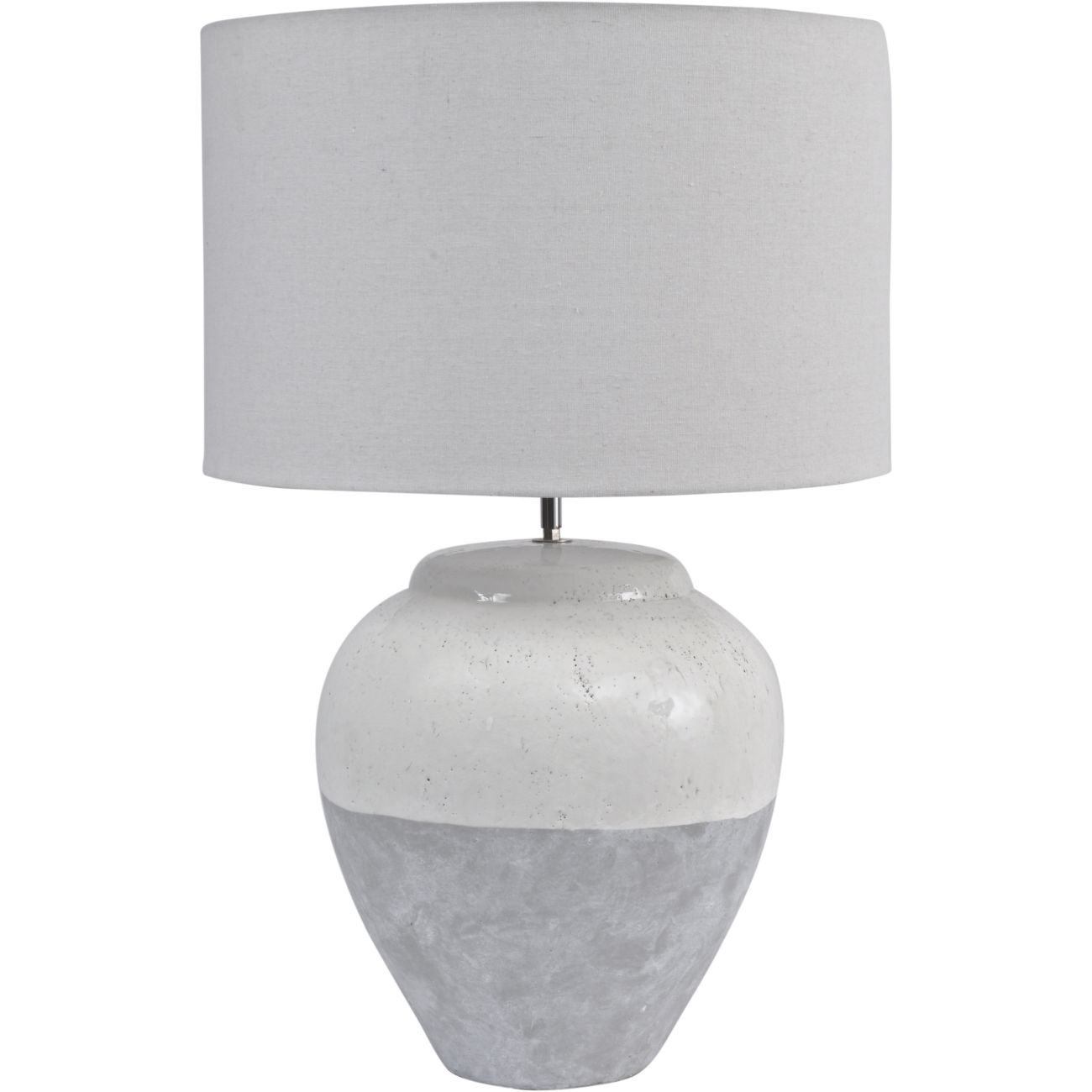 Skyline Grey Porcelain Table Lamp and Shade, Large  E27 60W thumbnail