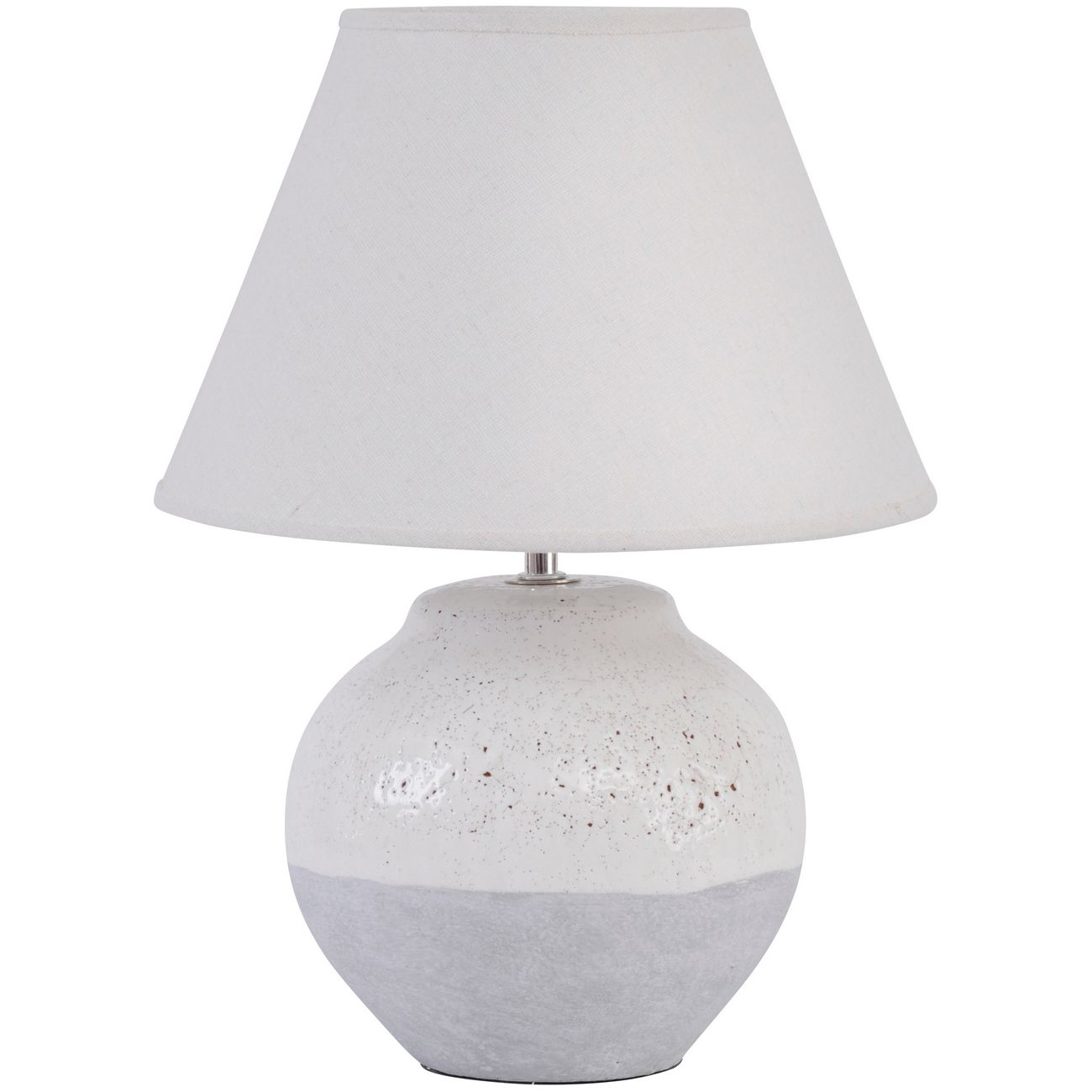 Skyline Grey Porcelain Table Lamp and Shade, Small  E27 60W thumbnail