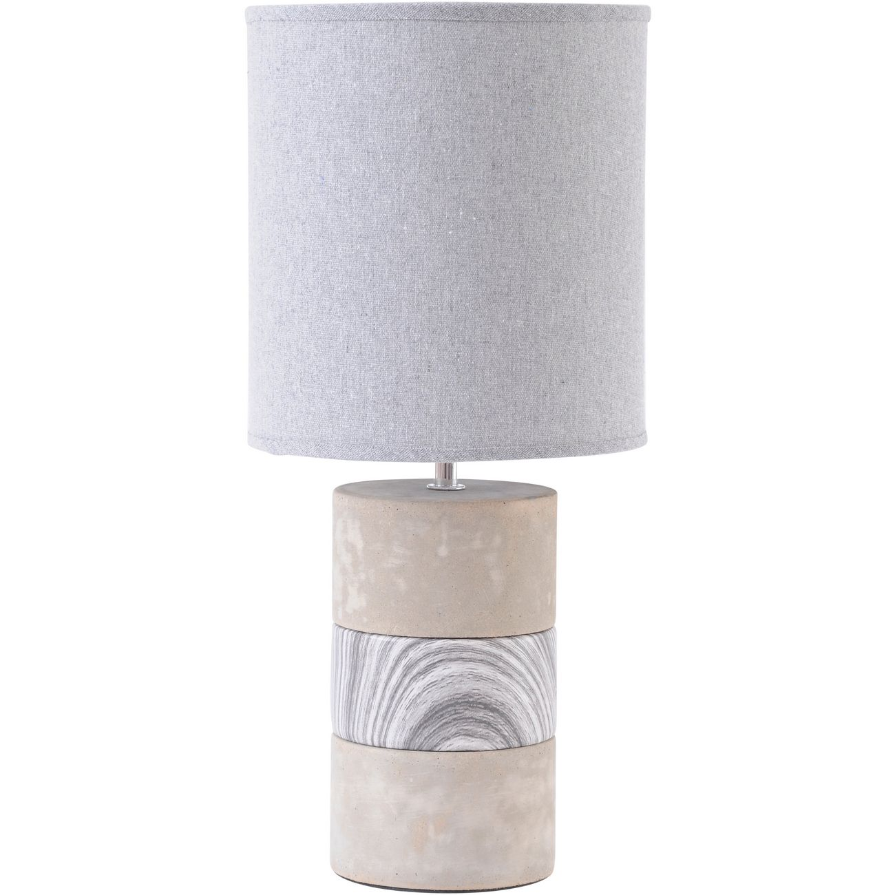 Concrete and Porcelain Table Lamp with Natural Shade  E14 40W thumbnail
