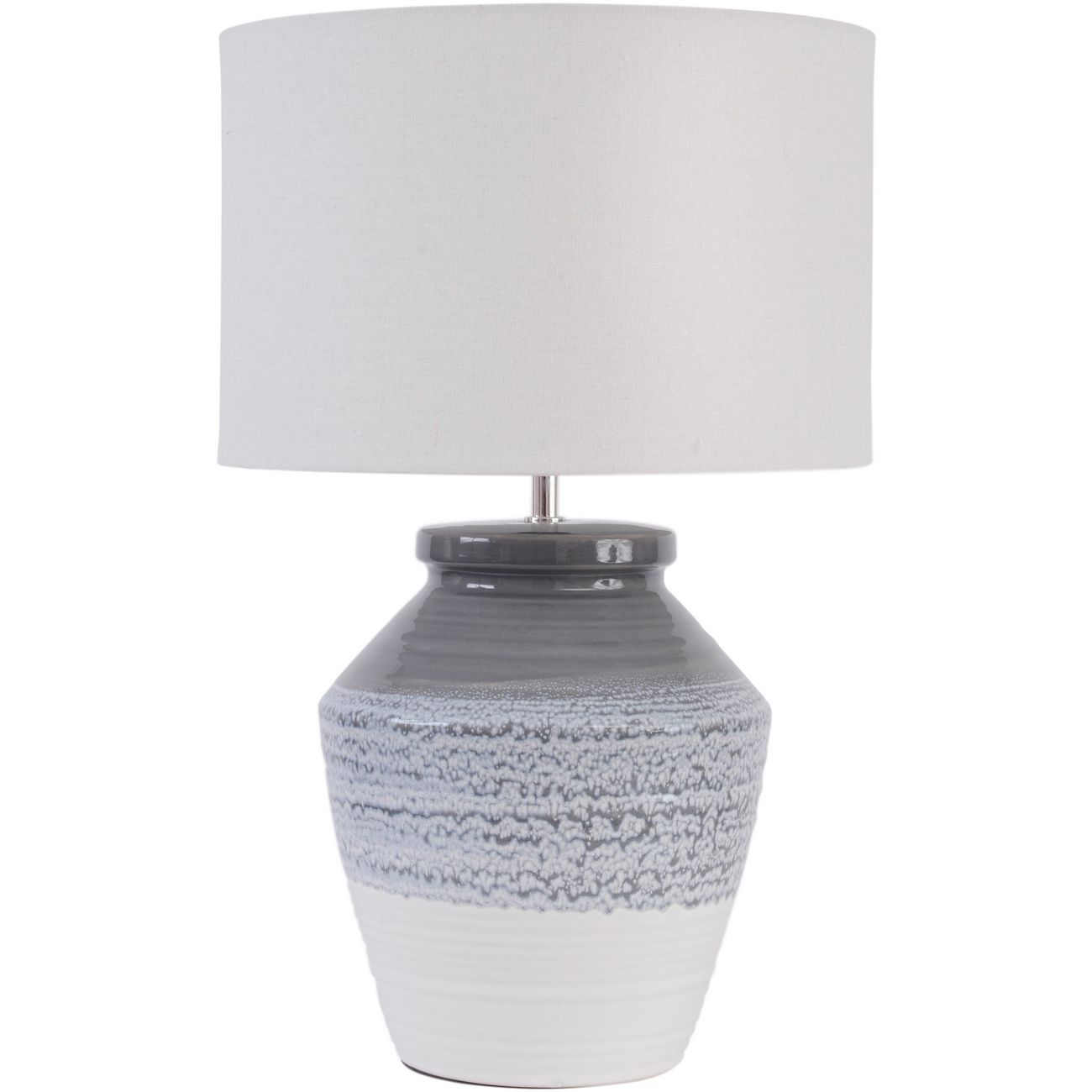 Skyline Grey and Blue Ceramic Table Lamp with Shade  E27 60W thumbnail