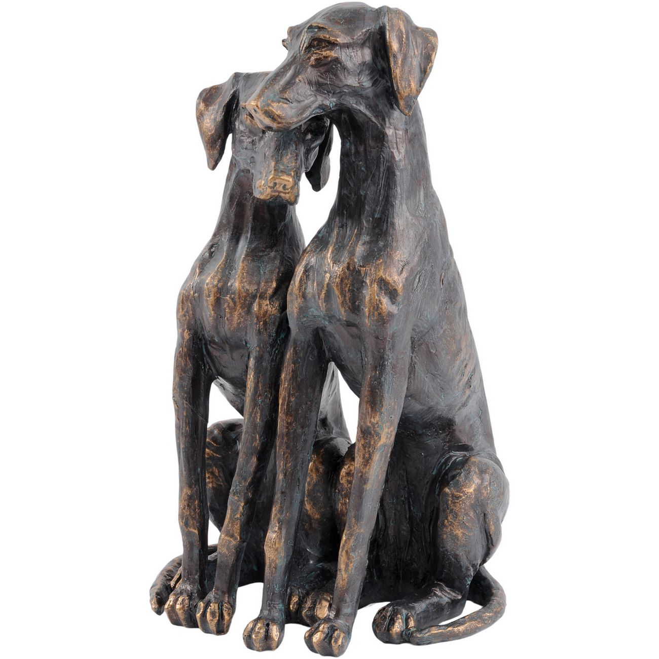 Antique Bronze Pup Sculpture thumbnail