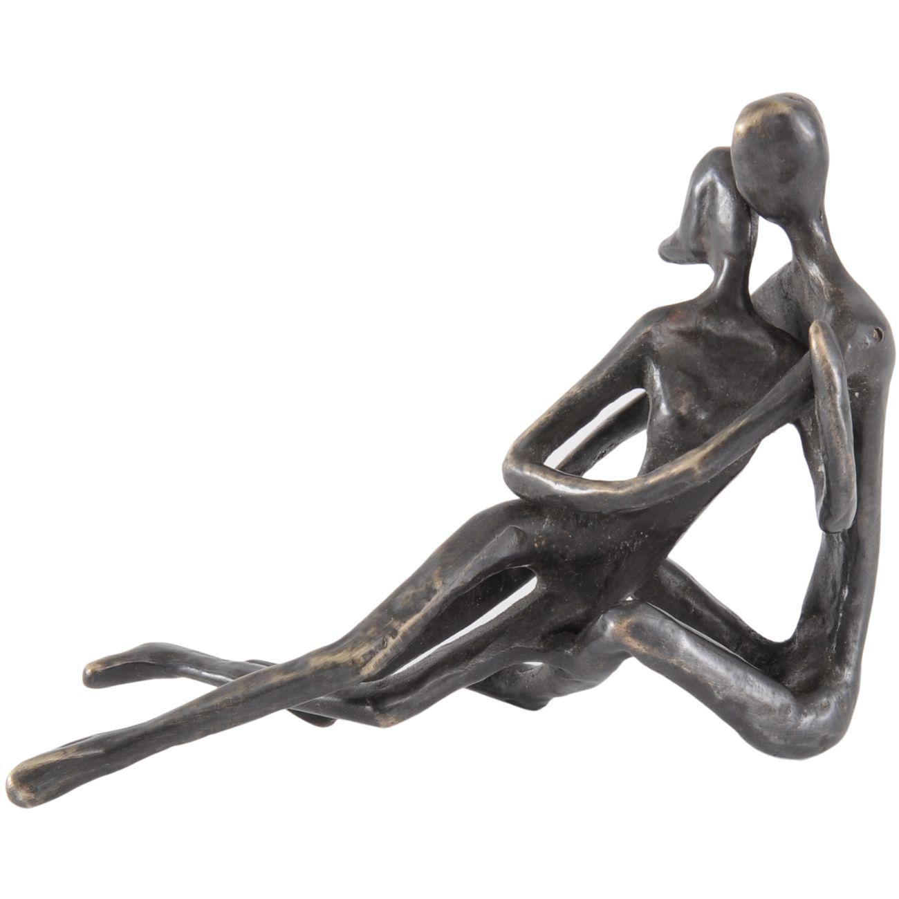 Bronze Embracing Couple Sculpture thumbnail