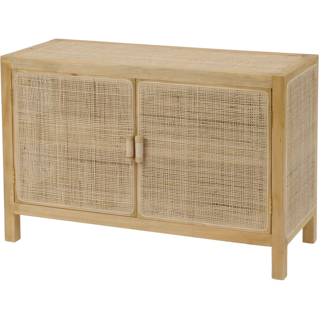 Toba Natural Rattan and Cane Two Door Cabinet thumbnail