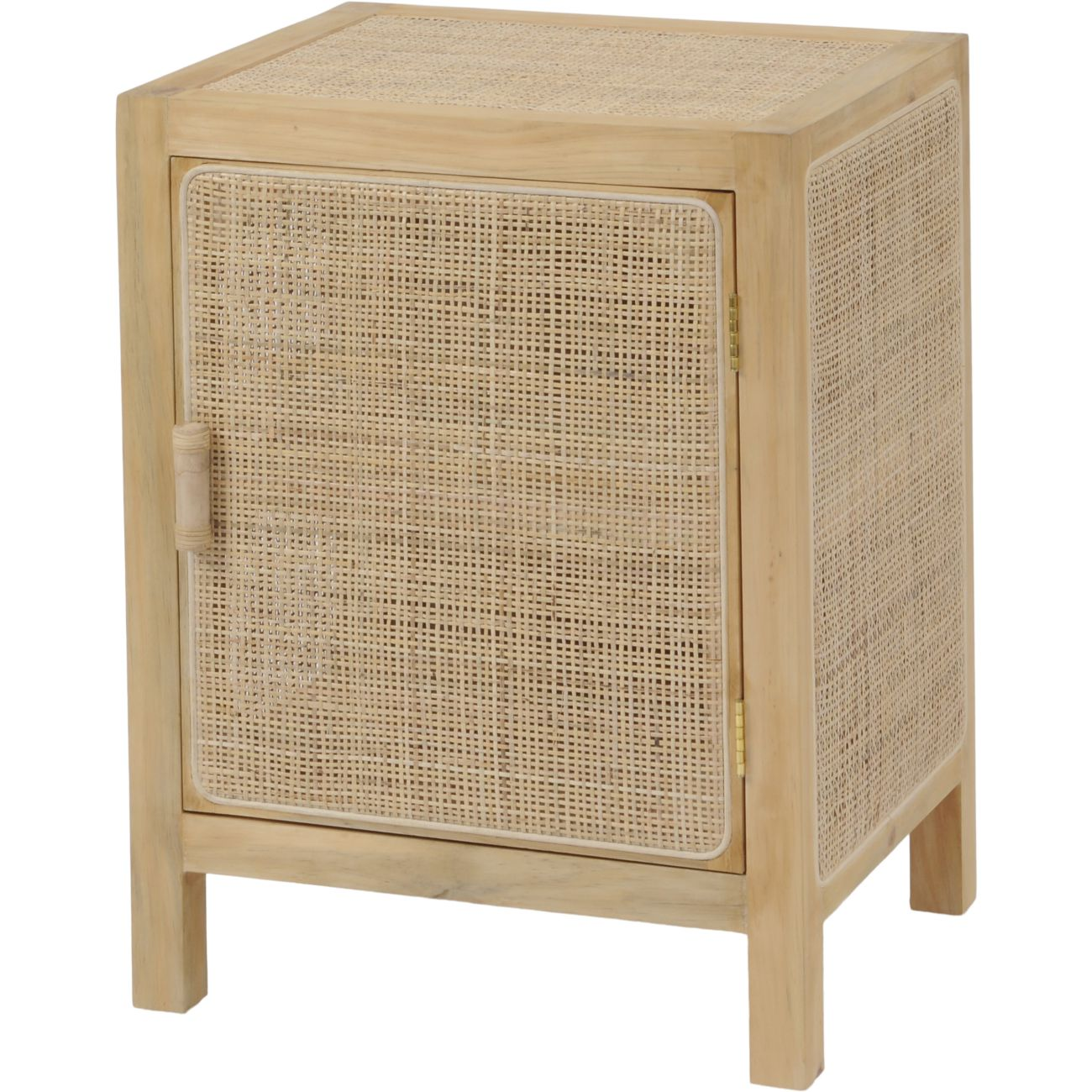 Toba Natural Rattan and Cane Small Side Cabinet thumbnail