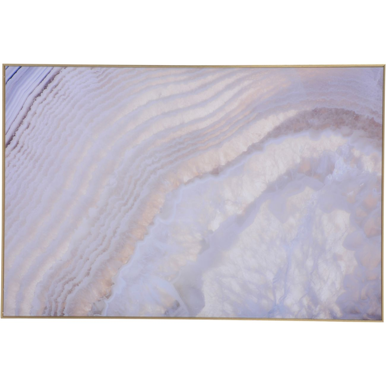 Soft Purple Agate Glass Wall Art 80x120cm thumbnail