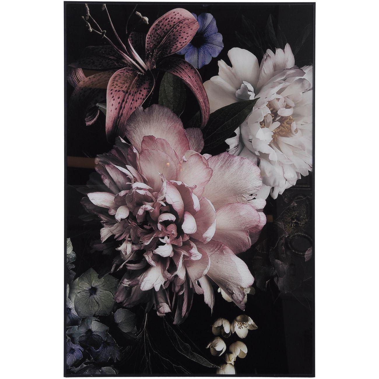 Floral Glass Wall Art 80x120cm thumbnail