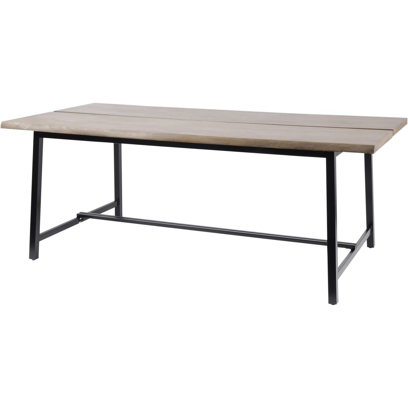 Foundry Rectangular Mindi Wood Dining Table with Steel Frame thumbnail