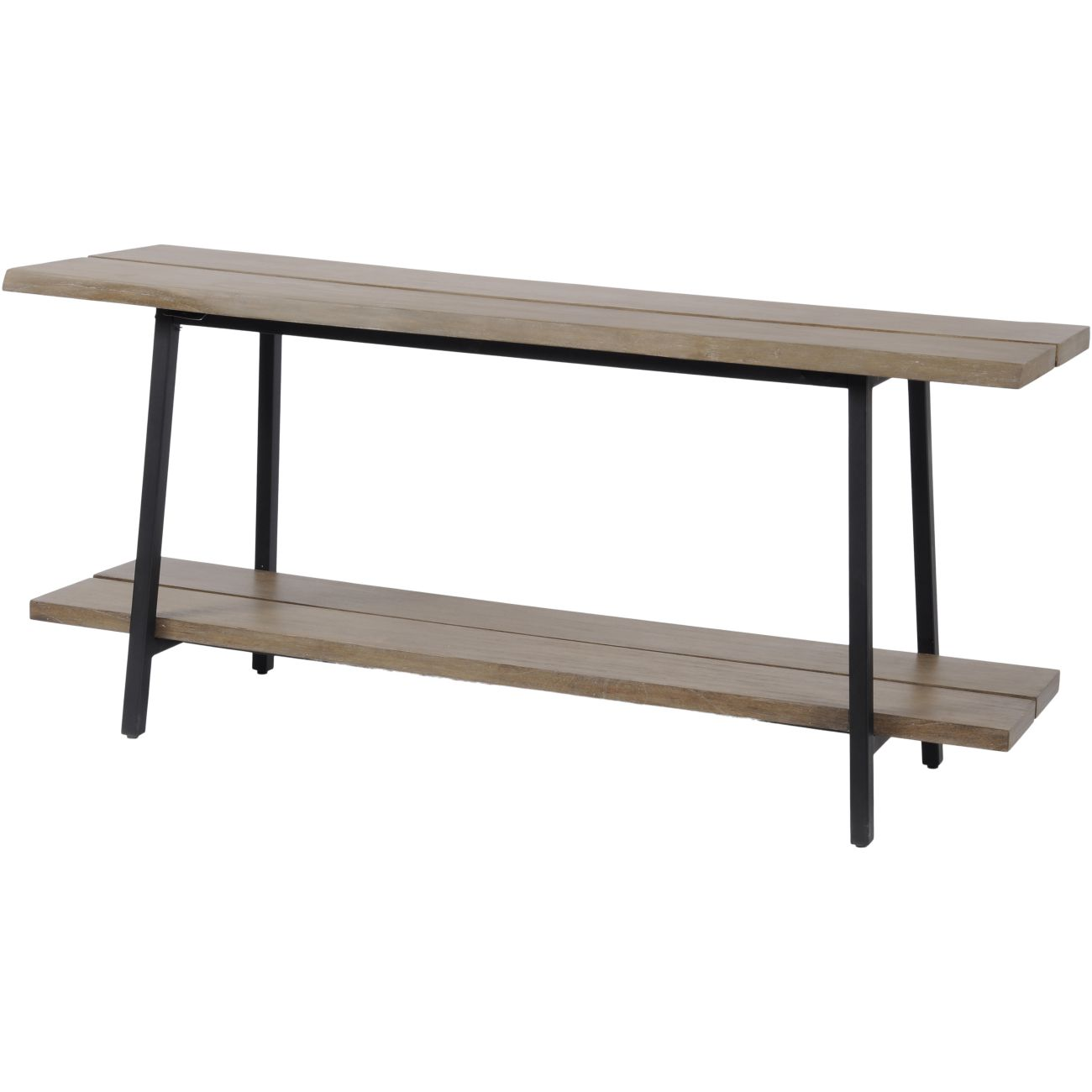 Foundry Mindi Wood Console Table with Steel Frame thumbnail