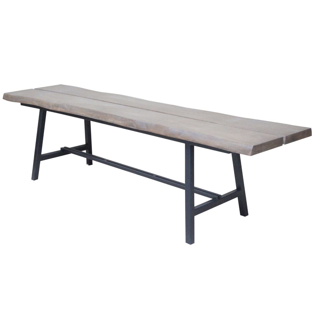 Foundry Mindi Wood Bench with Steel Frame thumbnail