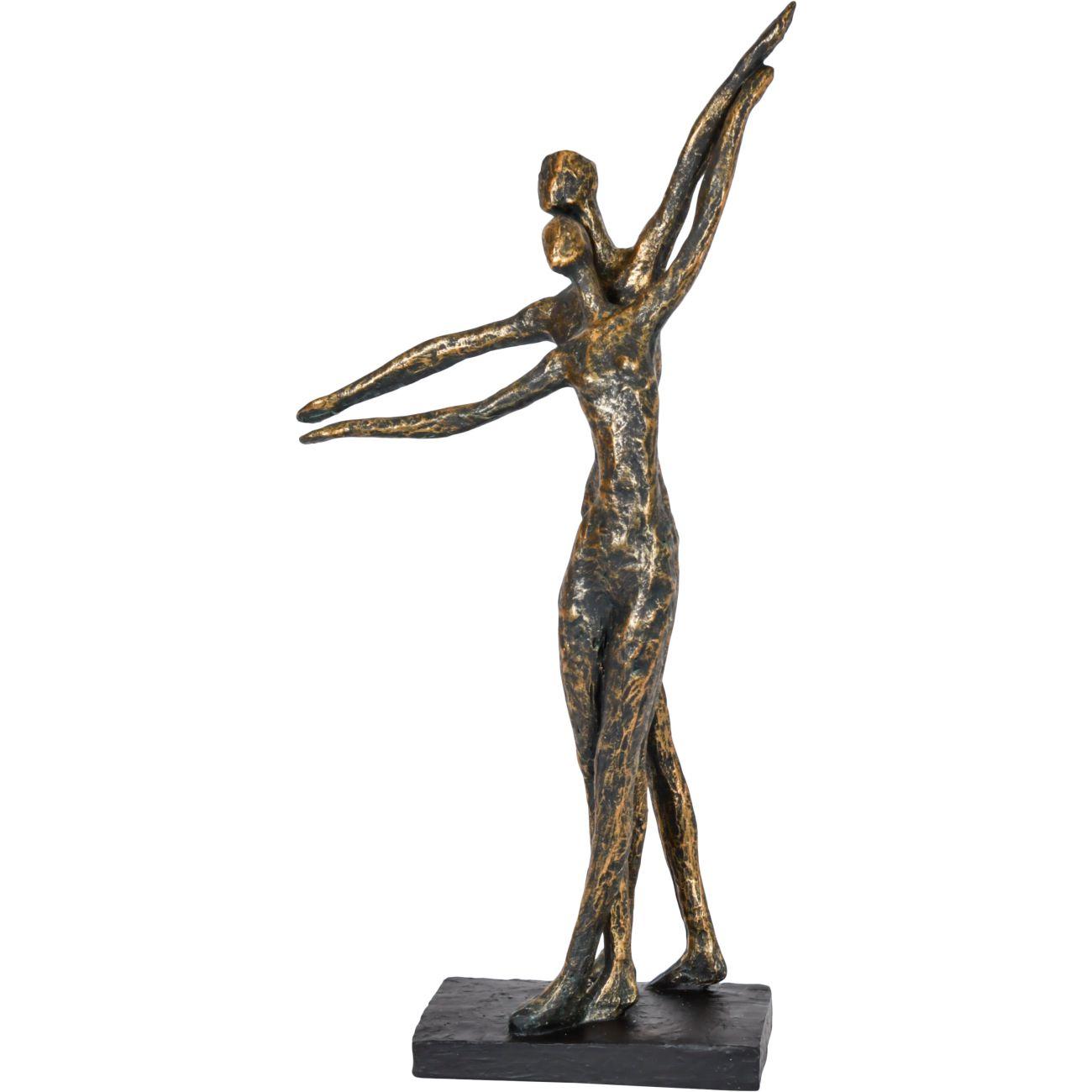 Celebrating Bronze Resin Standing Couple thumbnail