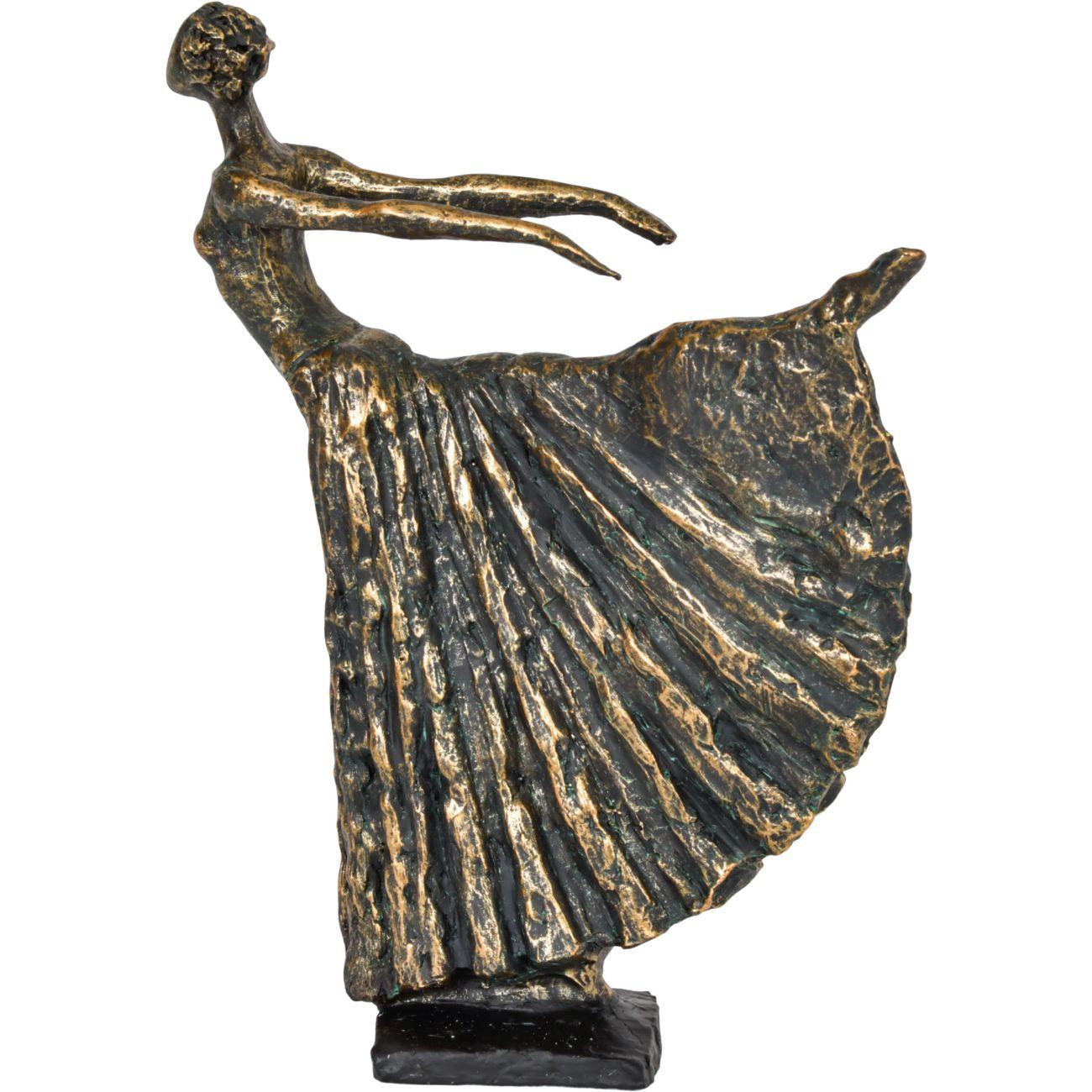 Standing Bronze Resin Lady Dancer thumbnail