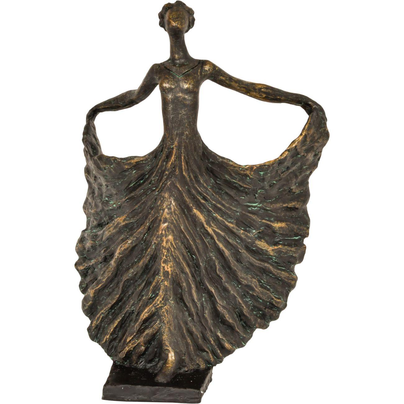 Poised Bronze Resin Lady Dancer thumbnail