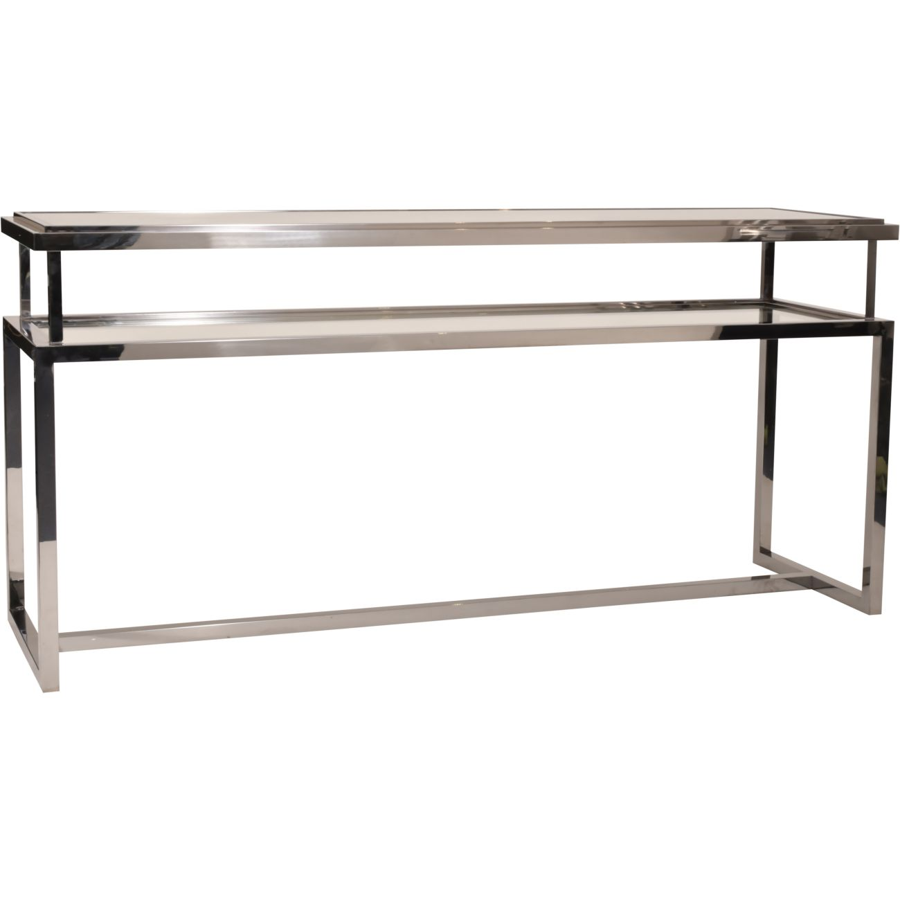 Belgravia Stainless Steel and Glass  Console Table 160x45x76cm thumbnail