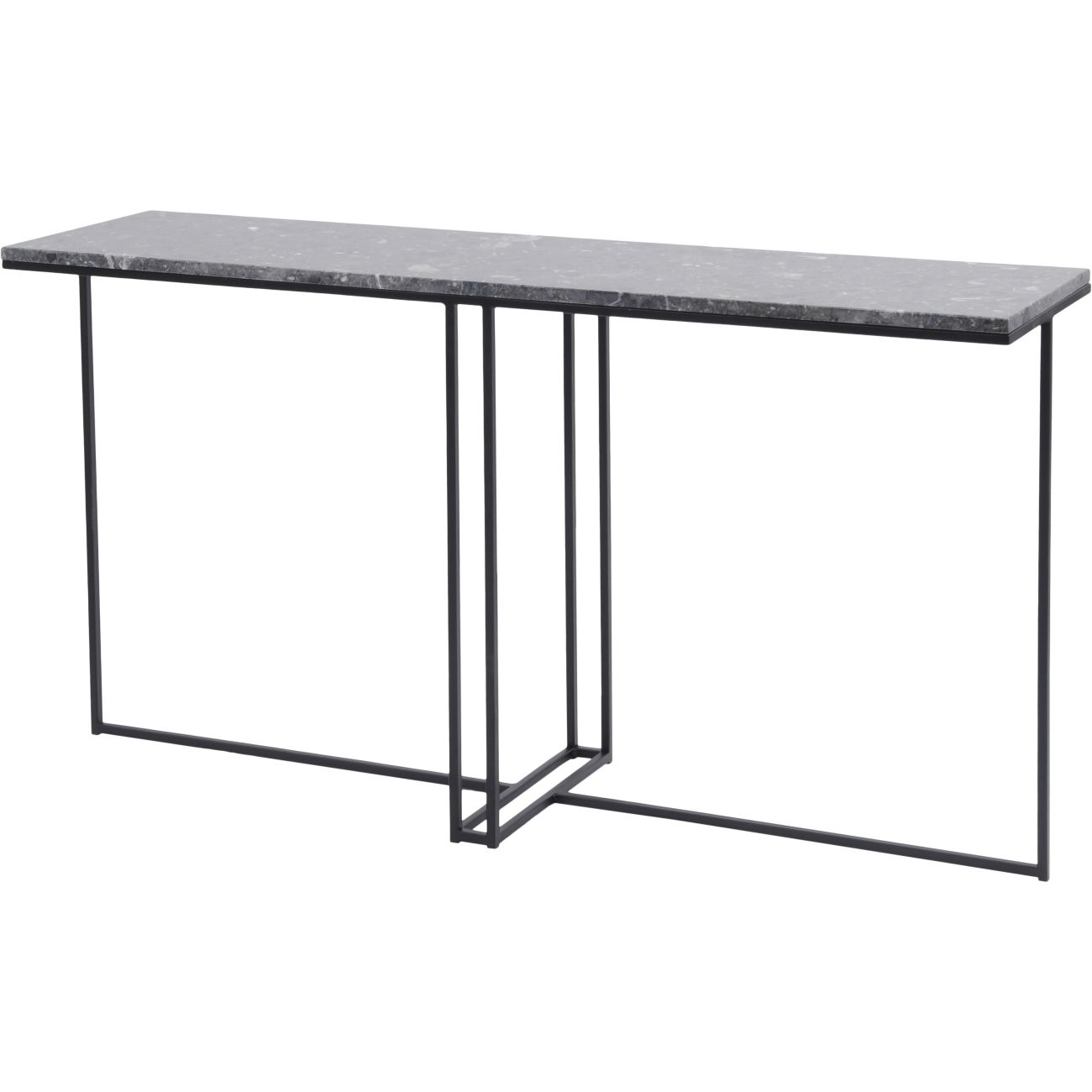 Shoreditch Black Metal and Grey Travisso Console Table thumbnail