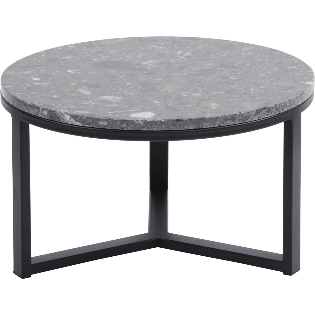 Shoreditch Black Metal and Grey Travisso Coffee Table, Small thumbnail